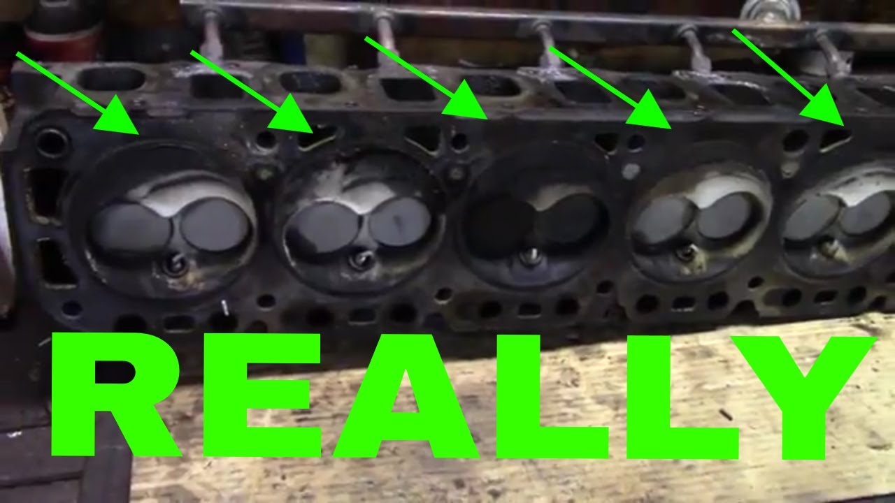 96 f150 4 9l cylinder head removal and findings [ 1280 x 720 Pixel ]
