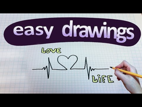 Easy drawings #129  How to draw Life is Love