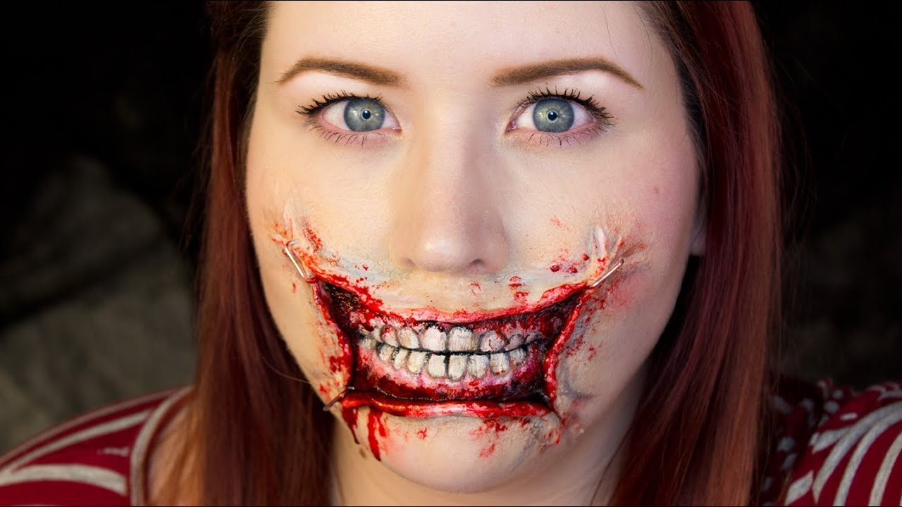 3d stretched lips halloween makeup tutorial youtube - Halloween Tutorials