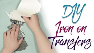 Iron On Transfers Light and Dark Fabric | DIY | Diving Head First