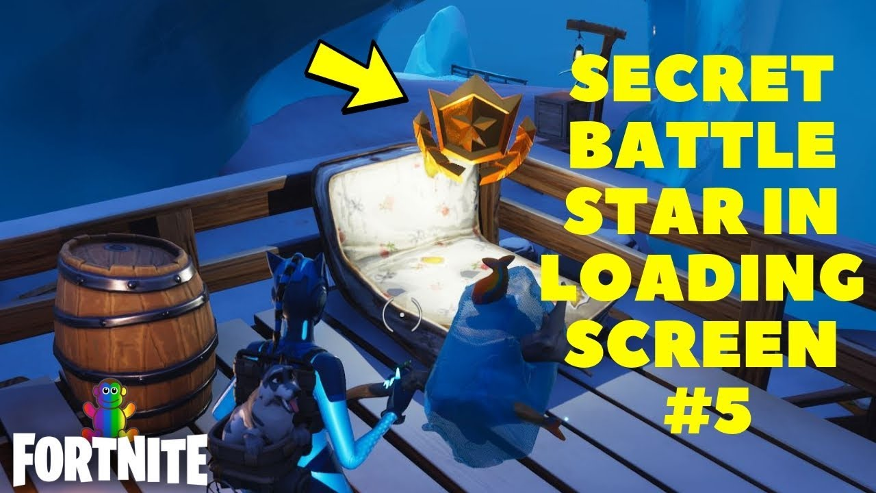 find the secret battle star in loading screen number 5