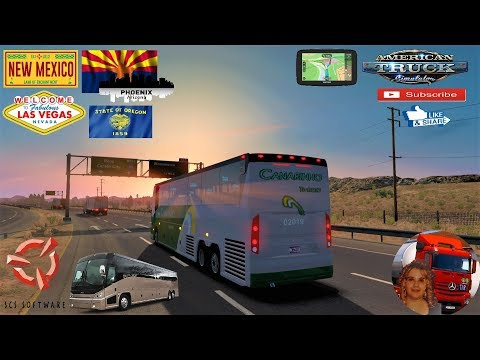 American Truck Simulator (1.35) Long Travel in USA New Mexico to Oregon + DLC's & Mods