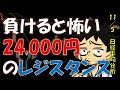 【日経平均】24,000の壁、ここを超えると新上昇トレンドだが!