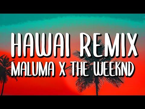 Maluma & The Weeknd - Hawái REMIX (Letra/Lyrics)
