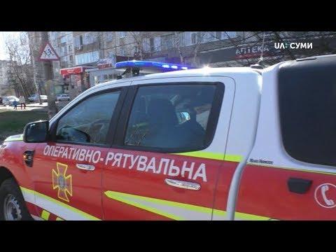 Суспільне Суми: У Сумах авто ДСНС з гучномовцями дають вказівки містянам як діяти під час карантину