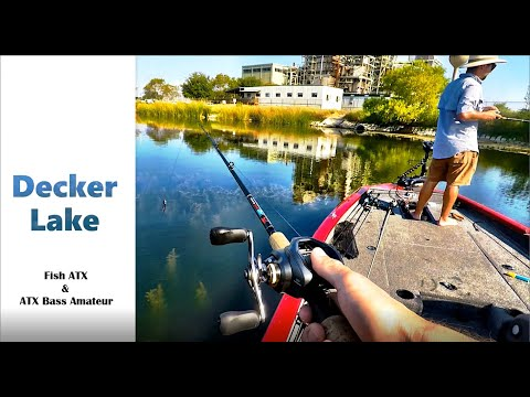 Decker Lake Was On FIRE! Literally - Fish ATX Bass Fishing - Decker Lake In Austin TX