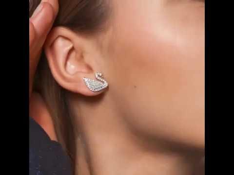 493db6bf2 Swarovski Iconic Swan Crystal Dropper Earrings 5429270 Jewel Hut ...