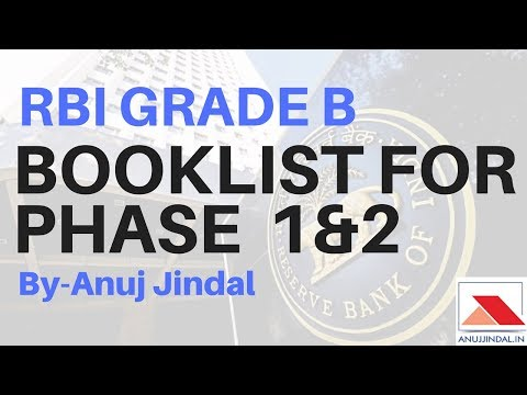 RBI GRADE B BOOKLIST FOR PHASE 1 AND 2