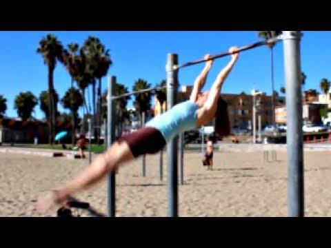 Gymnastics glide kip from a swing with coach meggin! mp3