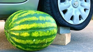 Download Crushing Crunchy & Soft Things by Car! - EXPERIMENT: WATERMELON VS CAR Mp3 and Videos