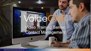 VoiceONE Connect Contact Management
