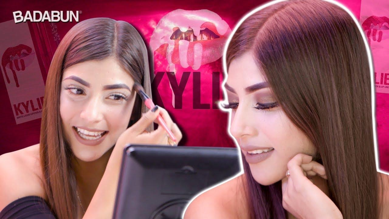 Probando maquillaje de Kylie Jenner, el mejor del mundo  #Trend