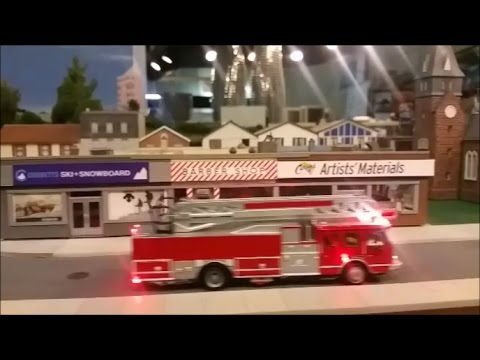1 87 Ho Scale Motorized Fire Truck With Working Lights And