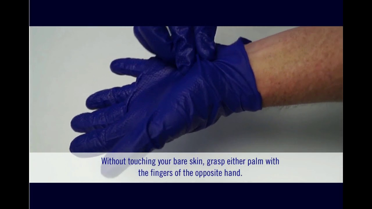 How to Remove Disposable Gloves Safely