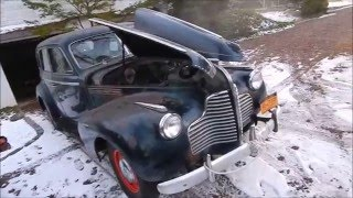 1940 Buick First Start in 30 years. Straight eight.