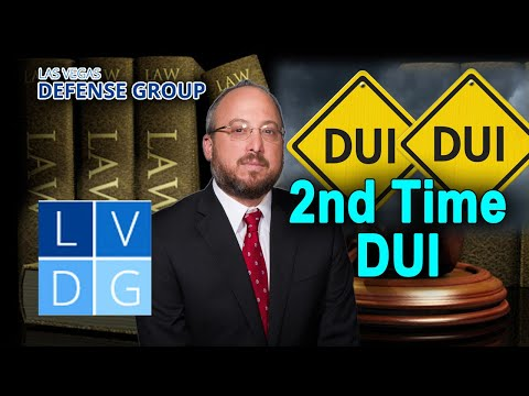What happens if I'm busted for DUI for the second time in Nevada?