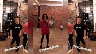 Бузова репетирует на студии танец на новою песню Чемпион