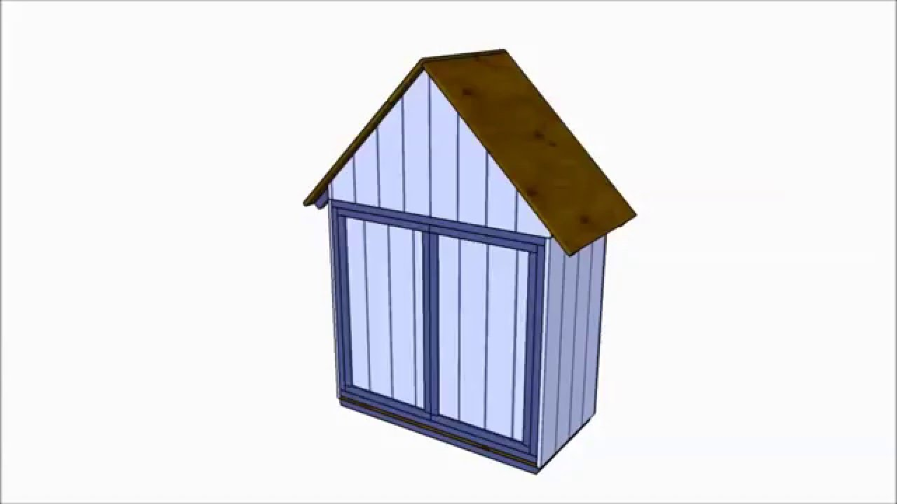 Free tool shed plans youtube for Equipment shed plans free