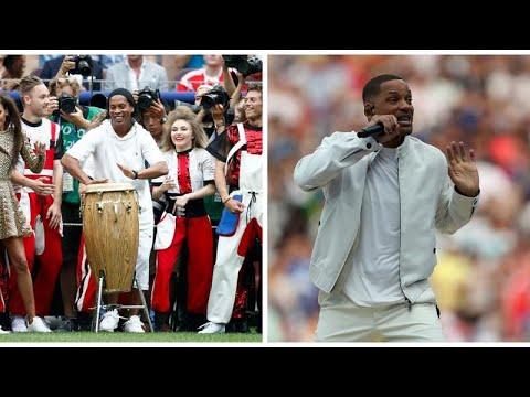 حفل ختام كأس العالم 2018: البرازيلي رونالدينيو والممثل الأمريكي ويل سميث ينشطان العروض…  - 22:21-2018 / 7 / 15