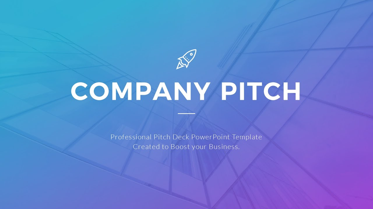 best pitch deck template youtube