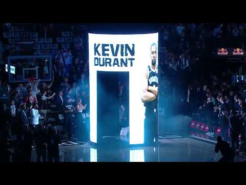 Kyrie Irving & Kevin Durant Get Introduced for Brooklyn Nets October 23, 2019-20 NBA Season - 동영상