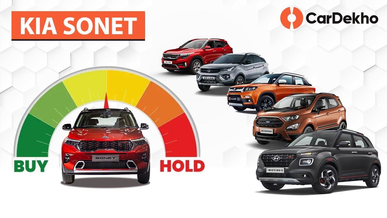 Kia Sonet 2020 vs Venue, Tata Nexon & Maruti Vitara Brezza | #BuyOrHold | CarDekho.com