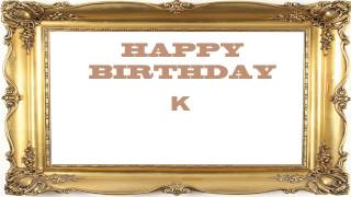 K   Birthday Postcards & Postales - Happy Birthday