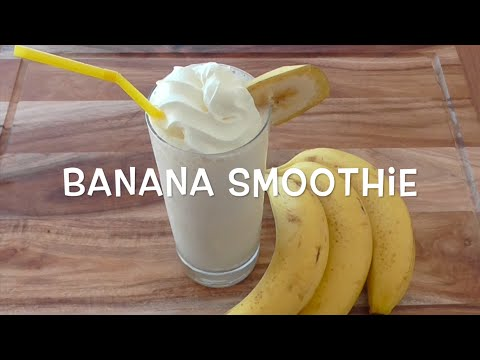 How to Make banana smoothie Recipe / Resep Jus pisang (3 ingredients)