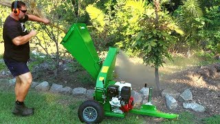 My NEW HANSA CHIPPER! Chews Garden Waste Like a CHAMP!