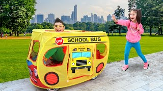 Kids Play with Toy School Bus | Super Day