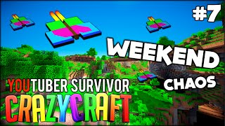 WEEKEND HYPE TIME AND BUTTERFLY DIMENSION - Minecraft: Youtuber Survivor! #7 (Crazy Craft 3.0)