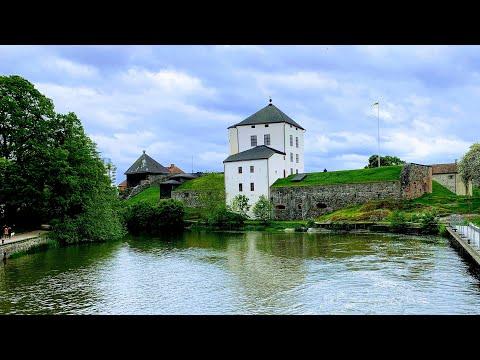 Nyköping River To Medieval Castle Ruin: Virtual Walk