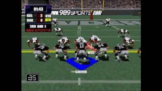 NFL Gameday 2000 Baltimore vs Oakland Part 3