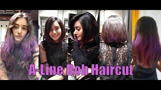 A-Line Bob Haircut At B & B Salon and Nails (Ahmedabad)