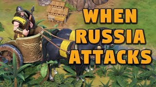 When Russia Attacks - Civilization 6 Gathering Storm Gameplay Part 2