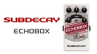 Subdecay Echobox - Our favorite settings.