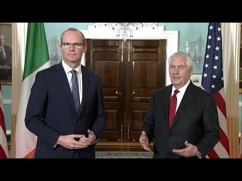 Secretary of State Rex Tillerson meets with Irish Foreign Affairs Minister Simon Coveney,US,2.23.18