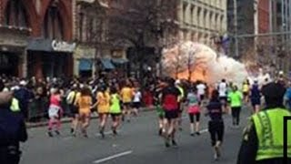 Boston Bombing Marathon Explosion Caught on Tape reaction