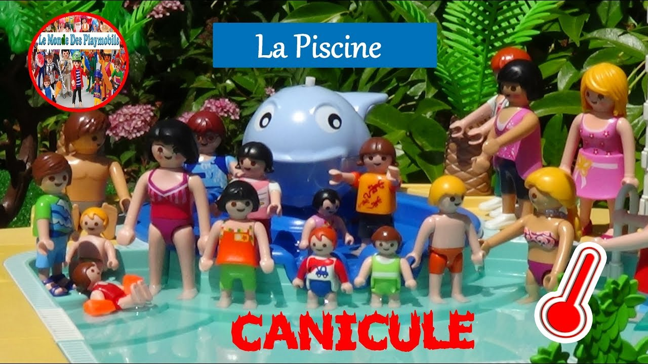 Playmobil la piscine un jour de canicule sous titr e for La piscine translation