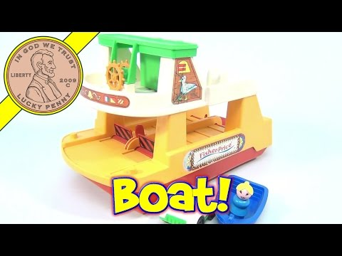 Fisher-Price Vintage Play Family Ferry Boat Playset #932 From 1978
