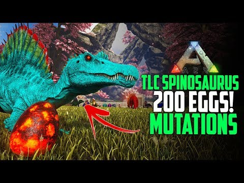 200 NEW TLC SPINOSAURUS EGGS + COLOR MUTATIONS! Ark Crystal Extinction E8