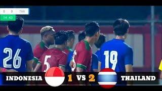 Indonesia Vs Thailand 1-2   Full Hightligh & Goals Friendly Match 2018