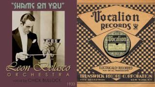 1933, Shame on You, Leon Belasco Orch. Hi Def, 78RPM