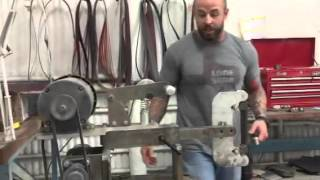 kmg grinder horizontal conversion kit update wt90 surface grinding attachment