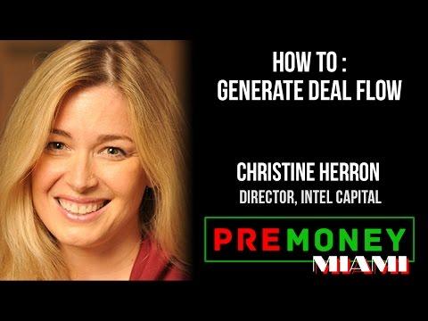 "[PreMoney MIAMI] Intel Capital, Christine Herron ""How To Generate Deal Flow"""