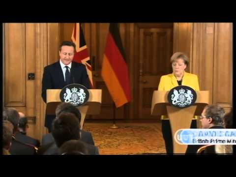 Cameron and Merkel Back Ukraine-Russia Talks: UK and Germany lead EU opposition to Kremlin conflict