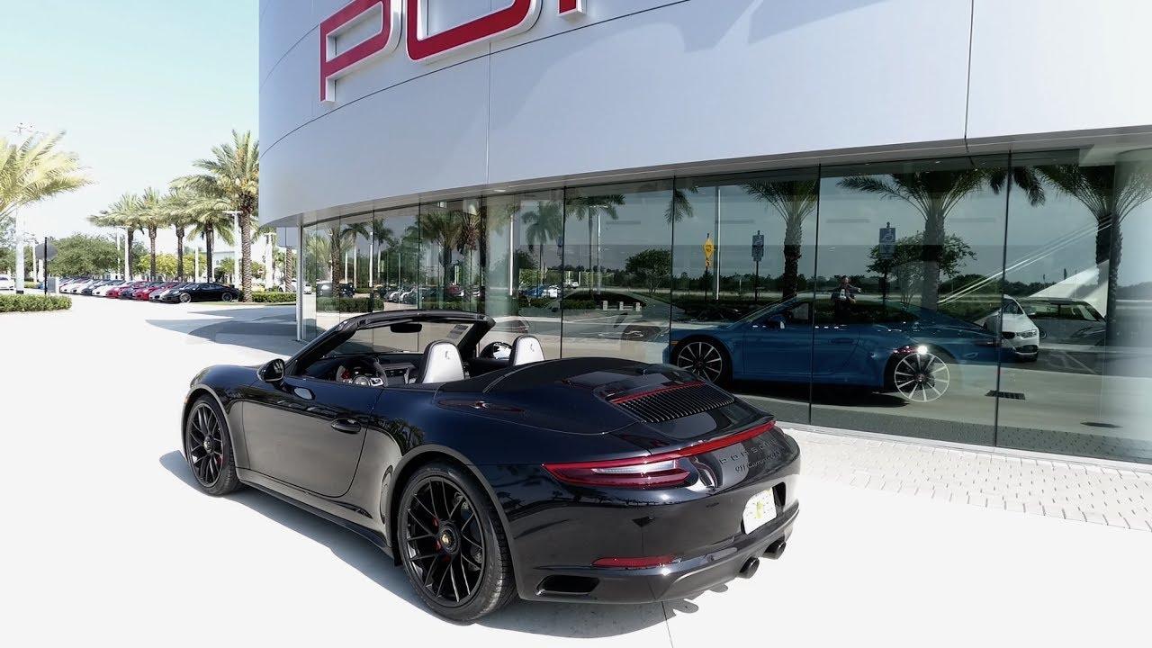 2017 Jet Black Porsche 911 Carrera 4 Gts Cabriolet 450 Hp West Broward