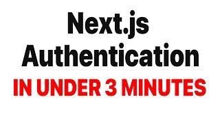 Next.js Authentication in under 3 minutes. Next.js, Prisma and next-auth.