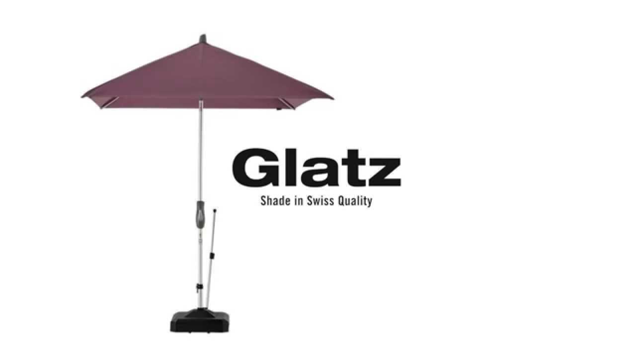Alu Twist Hochwertiger Sonnenschirm Mit Kurbel Von Glatz Youtube