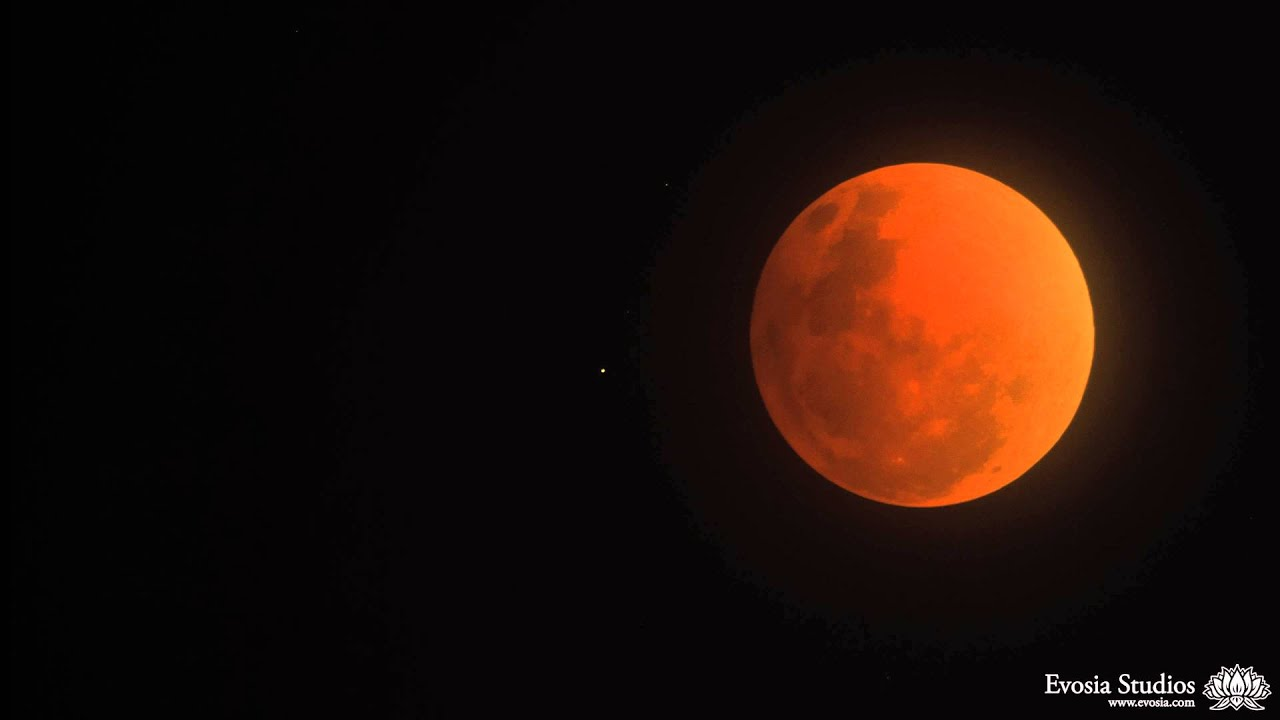 Blood Moon In The Night Sky Stock Footage Video 10294082 ...